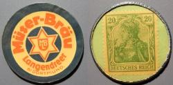 World Coins - German encased postage - Muser Braus - Dortmund, 20 pfennig Germania
