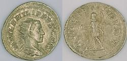 Ancient Coins - Philip II, AR antoninianus, 244-246 AD, PRINCIPI IVVENT