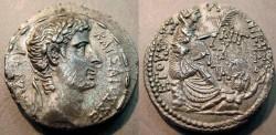 Ancient Coins - Augustus, 4-3BC, AR tetradrachm, Syria, Antioch