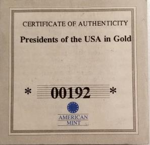 World Coins - Gold $50 coin from Liberia, 2002 -- 1/10th ounce of 0.585 gold