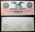 Interesting Canal Bank, New Orleans, orange front - 10 dollars