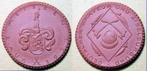 World Coins - German brown porcelain medal - 1922 - GRAVEUR und ZISELEURBUND