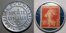 World Coins - French encased postage - Capital 500 million, 10c stamp