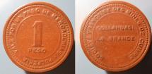 World Coins - Chile - Vulcanite company store token - 1 peso - Collahuasi La Grande