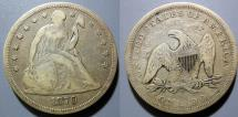 Us Coins - USA - Seated Liberty Dollar, 1870