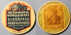 World Coins - German encased postage - Elberfeld - Adler Automobile - 5 pfennig