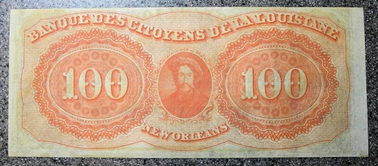 US Coins - Obsolete currency - New Orleans, LA - $100, 1850s - uncirculated