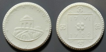 World Coins - German white porcelain medal - 200 year celebration of Herrnhut
