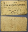 Civil War Currency, State of North Carolina - Raleigh, Oct 1st, 1861 - 10 cents