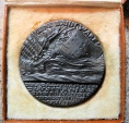 World Coins - Boxed Lusitania medal - British Propaganda copy - Goetz medal - iron