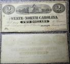 Us Coins - North Carolina Civil War currency - 2 dollars, 1863, uncirculated
