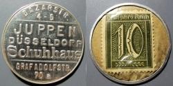 World Coins - German encased postage - Dusseldorf, Juppen Schuhhaus - 10 pfennig