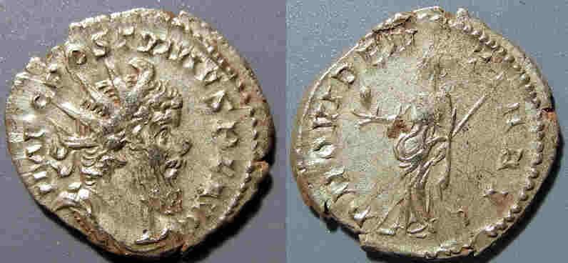 Ancient Coins - Postumus, 259-268 AD, AR antoninianus - Providentia