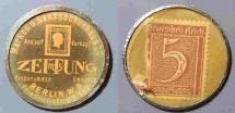 World Coins - German encased postage - Berlin, Zeitung - 5 pfennig