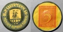 World Coins - German encased postage - 5 pfennig - HuP Sauermann AG