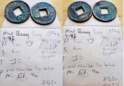 World Coins - Mixed small lot of Chinese cash coins - 6 coins