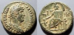 Ancient Coins - Roman Egypt, Hadrian, 117-138 AD, billon tetradrachm - Serapis