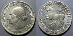 World Coins - German aluminum notgeld coin - Westphalia, 1921 - 50 pfennig