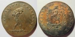 World Coins - Great Britian, Half Penny token, 1793 - Lancashire, Manchester