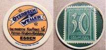 World Coins - German encased postage - 30 pfennig, Overbeck Weller - damaged