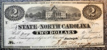 $2 State of North Carolina, Capitol building, medallion 2s