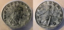 Ancient Coins - Claudius Gothicus, 268-270 AD, silvered antoninianus - PROVIDENT AVG, ANACS
