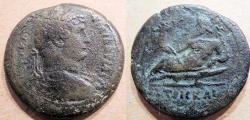 Ancient Coins - Hadrian, 117-138 AD, AE drachm, Nilus reclining