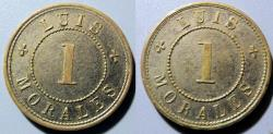 World Coins - San Salvador, El Salvador, Merchant token issued by Luis Morales - 1 reales