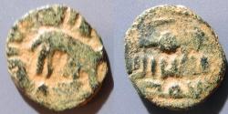 World Coins - Umayyad Dynasty, anonymous AE Fals, 730-740 AD, elephant!