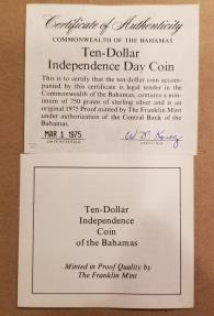 World Coins - 2 coins from the Islands -- Bermuda and the Bahamas