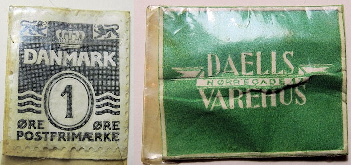 World Coins - Denmark, encased postage - 1 Ore - advertising Daelis Varehus
