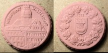 World Coins - Odd German porcelain medal - Heimatfahrt Waldenburg, 1923