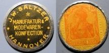 World Coins - German encased postage - JW Saltzer - Hanover 10 pfennig