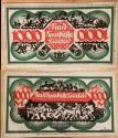 World Coins - German emergency money printed on linen - 1000 Mark - Bielefeld  - Green / white