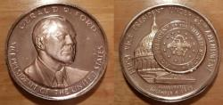 World Coins - Massive silver  Gerald Ford Medal.  Inauguration.   64mm, almost 5 troy ounces