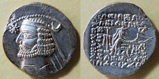Ancient Coins - Parthian drachm - Orodoes II, 57-38 BC - very nice!!