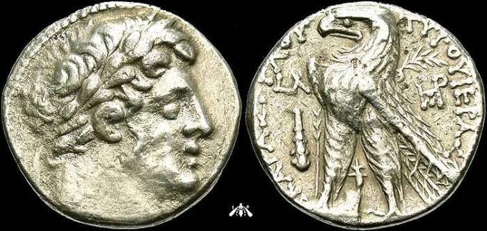 Ancient Coins - Shekel of Tyre, Phoenicia, AR Tetradrachm, c. 97/96 BC