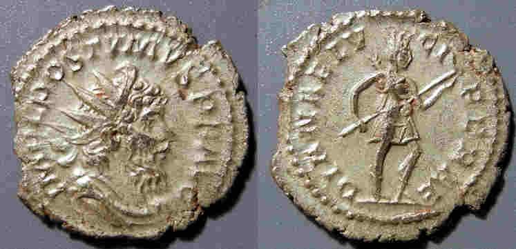Ancient Coins - Postumus, 259-268 AD, AR antonianus - Diana reverse