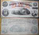 Obsolete currency - remainder, Missouri Defence Bond - One Dollar