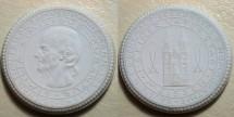 World Coins - Dr. Hahnemann German white porcelain medal - Meissen