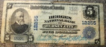 Us Coins - Obsolete currency - Bergen National Bank, Jersey City, circulated but scarce!