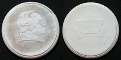World Coins - White, gispform, Immanuel Kant porcelain medal
