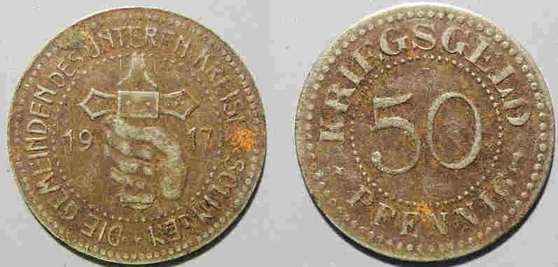 World Coins - German metal notgeld - iron - Solingen, 1917