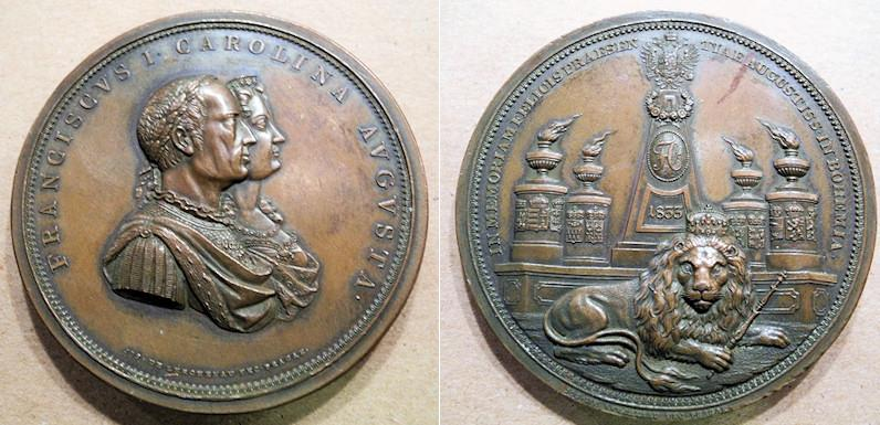 World Coins - very rare bronze medal, 1833, Franz II, 1792-1835 Austria