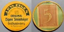 World Coins - German encased postage - JPW Eigen, 5 pfennig