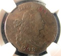 Us Coins - USA Large Cent, 1798 2nd hair, NGC VF-25 brown
