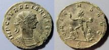 Attractive Aurelian, 270-275 AD AE antoninianus - Sol, captives