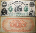 Obsolete currency - remainder - 10 dollars, Citizens' Bank of Louisiana , 1860
