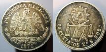 World Coins - Mexico, second Republic, 1878 50 Centavos -- KM# 407.8