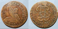 World Coins - 1700s Austria Netherlands Liard - higher grade, double or triple struck!